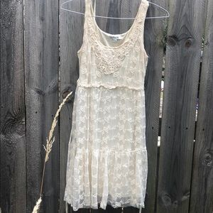 Lace 1920s 1970s styled dress Off-White Wedding